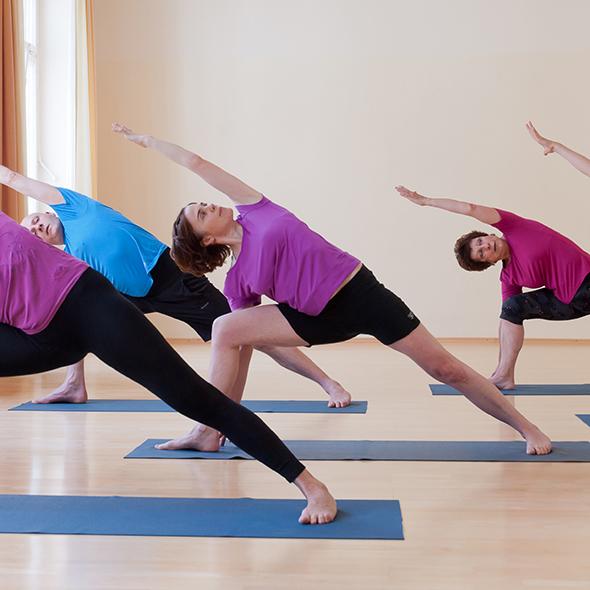 Ansicht Yoga-Asana Der 3. Krieger