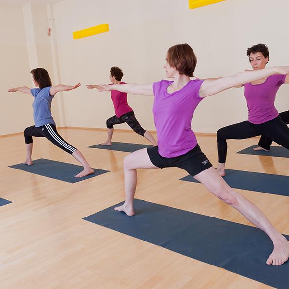 Ansicht Yoga-Asana Der 2. Kriege